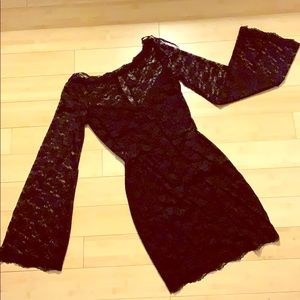 Free People XS Black Lace Bodycon